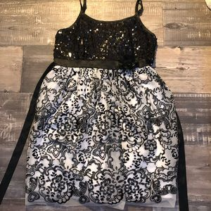 Black and white justice dress